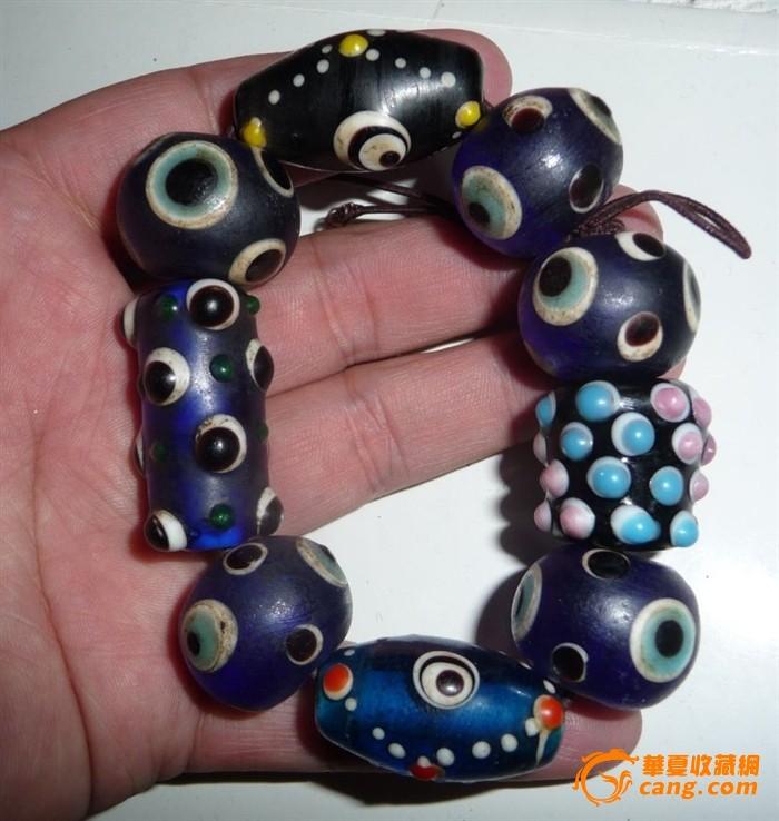 老琉璃珠子手链