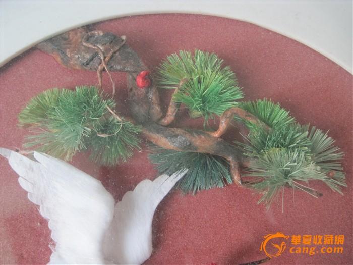 出品中国锦丝画松鹤松树1