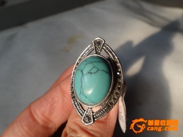 清代绿松石戒指图片