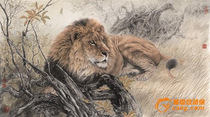 近现代-唐坚-狮子