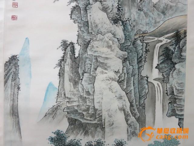 陈少梅--山水人物_陈少梅--价格视频山水_陈少人物蓝鸦冠图片