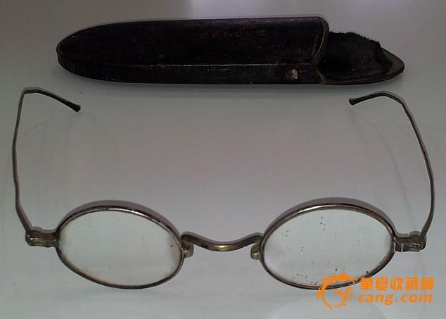 民国 银白铜 眼镜