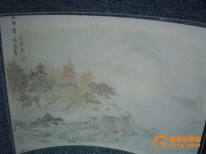 山水风景铅笔画 彩画展示