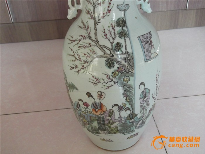 民国仕女人物花瓶
