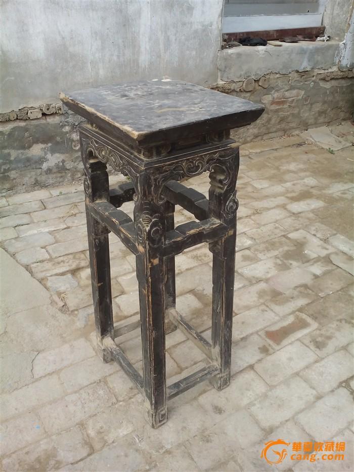 明代柏木雕人物骑麒麟二屉供桌 柏木雕龙头二屉供桌 格栅一套便宜处理