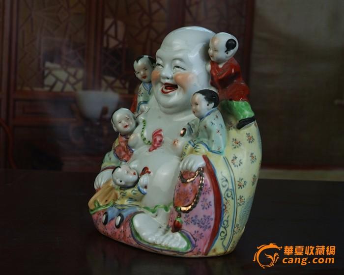 德镇陶瓷 文革瓷器 厂货瓷器 收藏 五子罗汉 开心吉祥