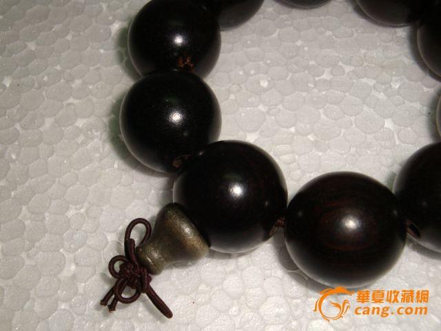 清代小叶紫檀手串图片