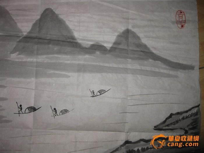 漂亮大气的山水画一幅