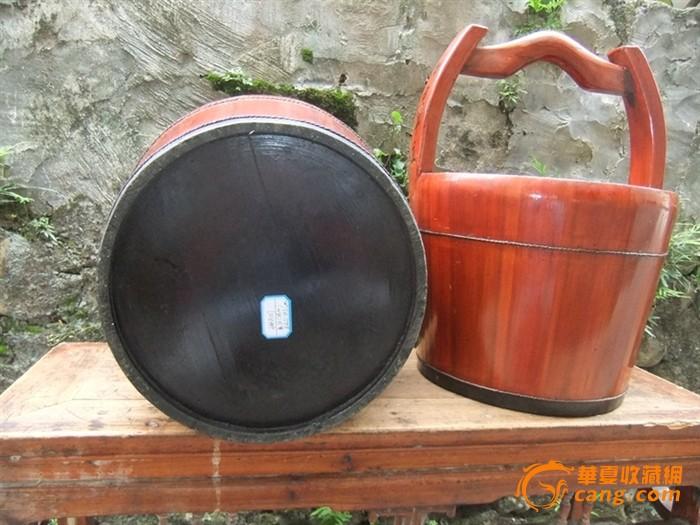 年年有鱼中号带柄水桶木桶