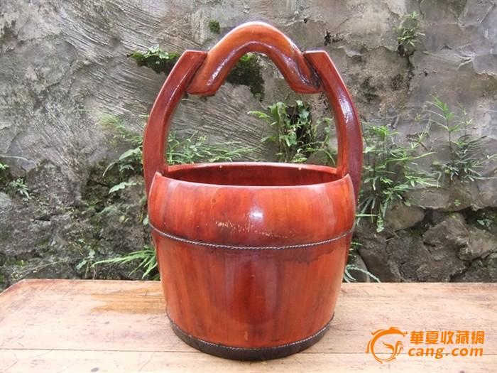 十里红妆居家良品小号带柄水桶木桶