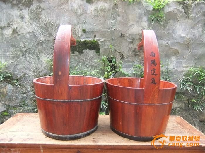 号带柄水桶木桶两个