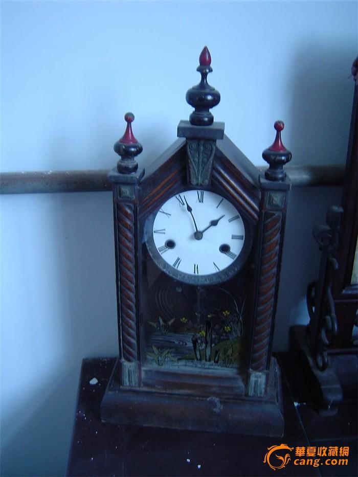 雕塑钟 文革钟 瑞士古董钟swiza铜机械钟/swiss欧式