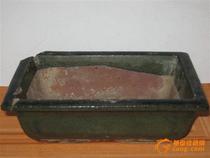 茶叶末釉紫砂花盆