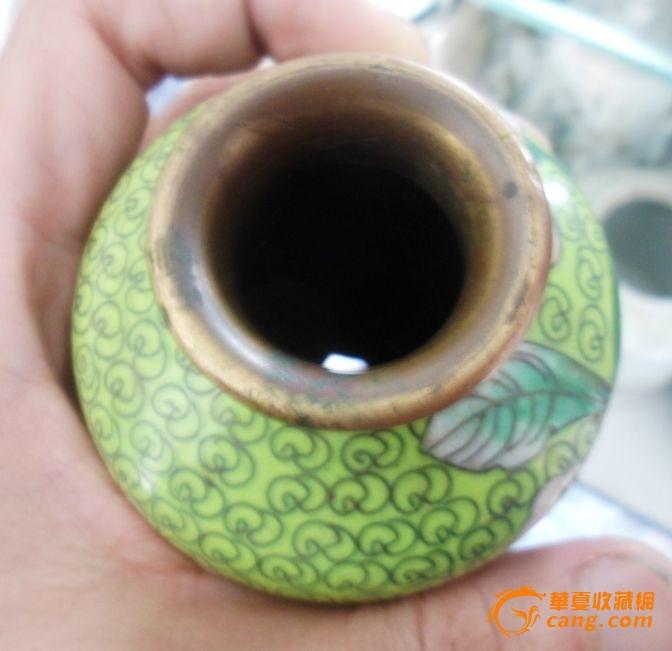 清代 景泰蓝瓶 铜胎掐丝珐琅瓶