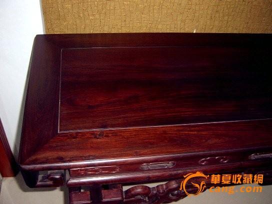 九十年代 国营上海红木厂制作大红酸枝老红木摹宫廷紫檀琴桌