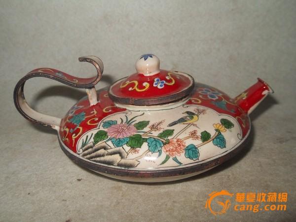 紫铜手绘小茶壶