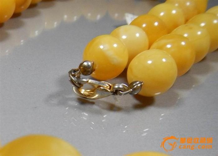 珠宝级天然鸡油黄金绞丝蜜蜡项链