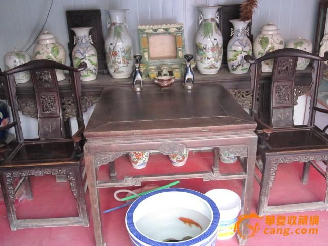 清代的家具,条几,八仙桌,一对官帽椅子出售,_清