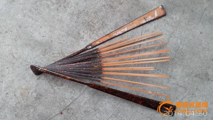 民国菠萝漆竹扇骨