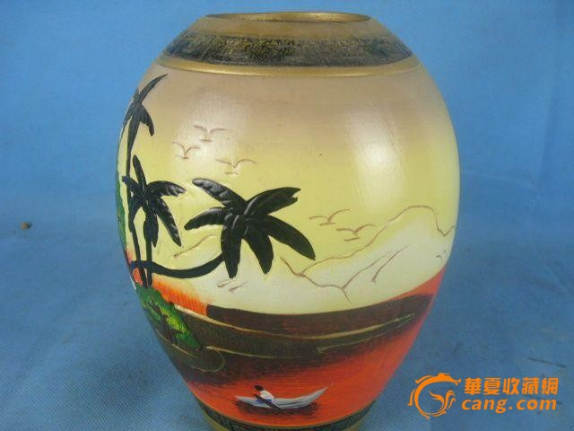 手绘出口陶罐_手绘出口陶罐价格_手绘出口陶罐图片_藏