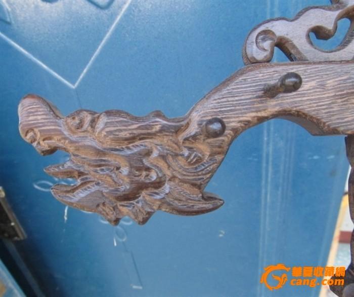 木雕龙头笔挂