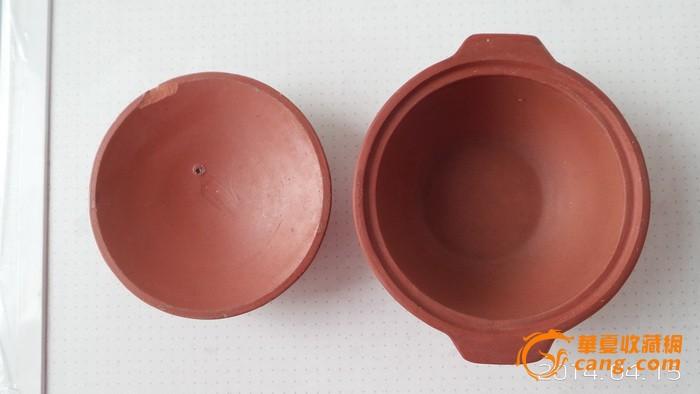 小巧可爱的篆书款中国宜兴文革紫砂小盖锅文革紫砂锅2