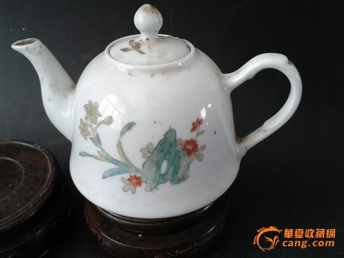 文革手绘茶壶