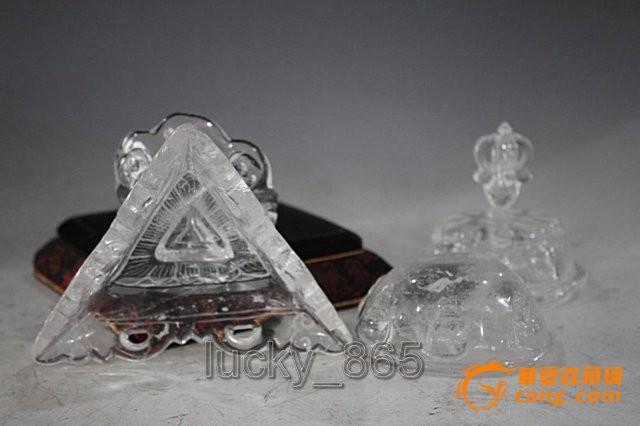 2014 天然白水晶猞猁塔