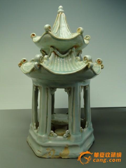 陶瓷器手绘摆件花瓶子宋代影青白瓷宝塔