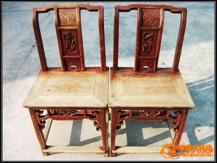 。经典东阳工、太平有象。中国结。书房清雕椅一对。。图1