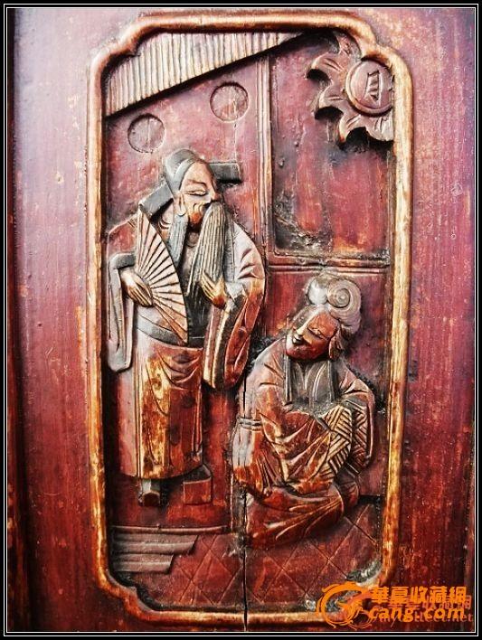 。经典东阳工、太平有象。中国结。书房清雕椅一对。。图2