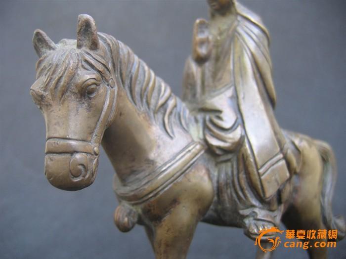 清_玄奘骑马铜像