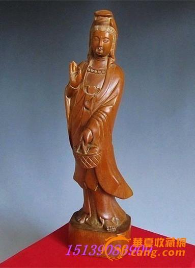 黄杨木雕观音 雕工精细 面相和蔼