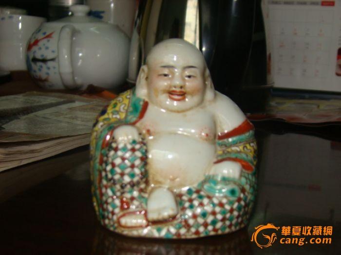 粉彩弥勒佛像