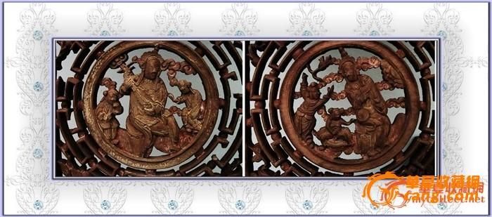 。。经典东阳工。清雕挂落系列、之。亭台楼阁。。图4