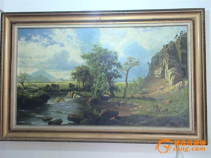 油画,山水风景画
