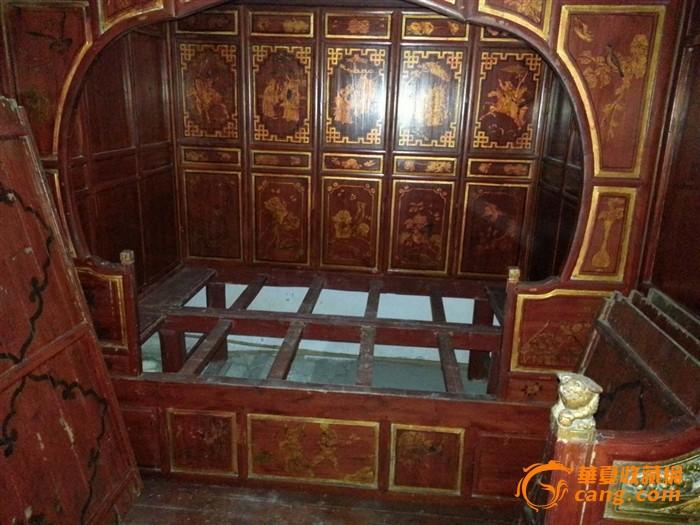 2#木雕拔步床 架子床13587652095