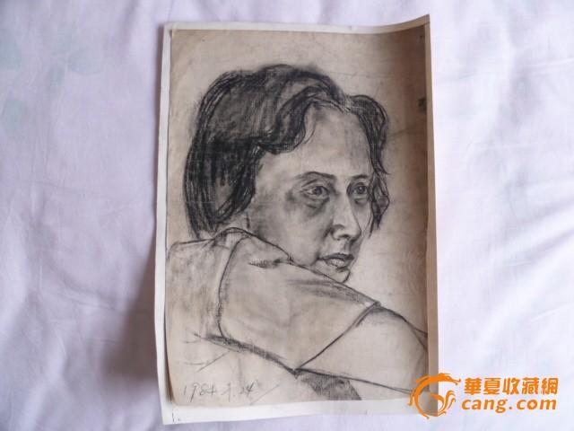 老一輩畫家炭筆素描作品-毛主席