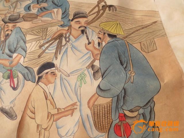 彭玉麟梅花 通草画:市井人物生活2件套  编号 jy7625595 上传