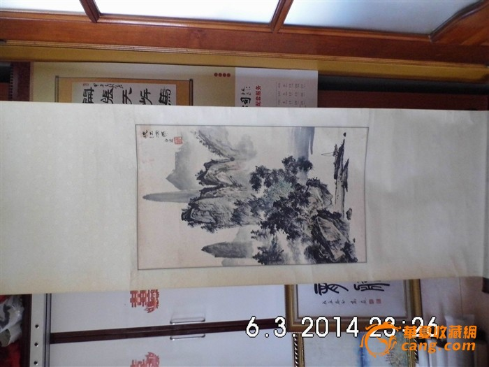 青岛著名画家[张白波]的山水画