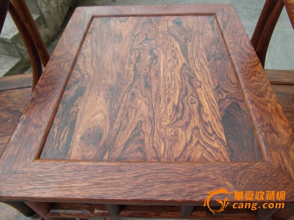 老家具 古董木艺海南黄花梨圈椅一对图4