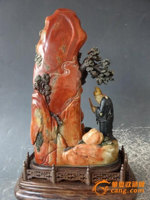 请问这摆件是寿山石雕刻的吗?