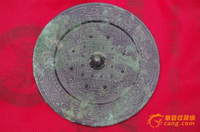 汉代铜镜纹样手绘