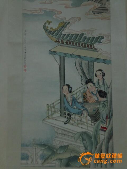 黄君璧--山水 刘文西 --最可爱的人 张大千---山水 沈心海 ;人物(传神