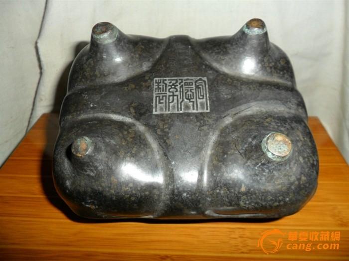 《大明宣德年制》方形铜香炉
