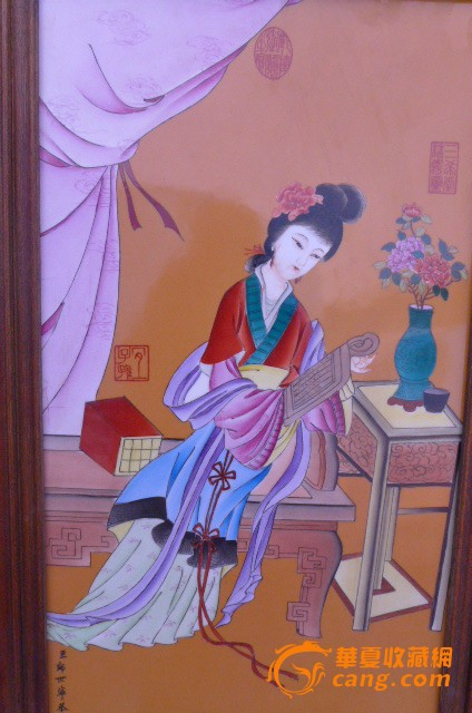郎世宁金陵十二钗瓷板画