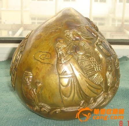 铜质八仙过海寿桃