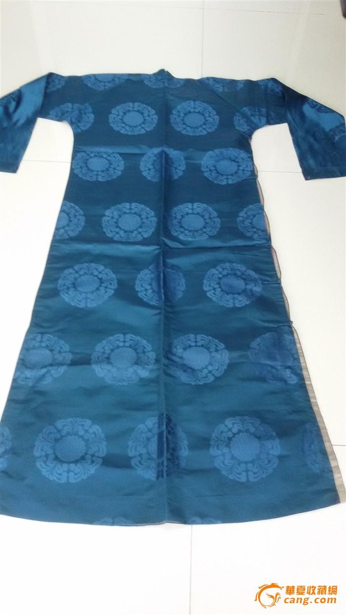 民国蓝色硬彩缎地图纸蓝色线条_民国男士硬团花长衫建筑图片