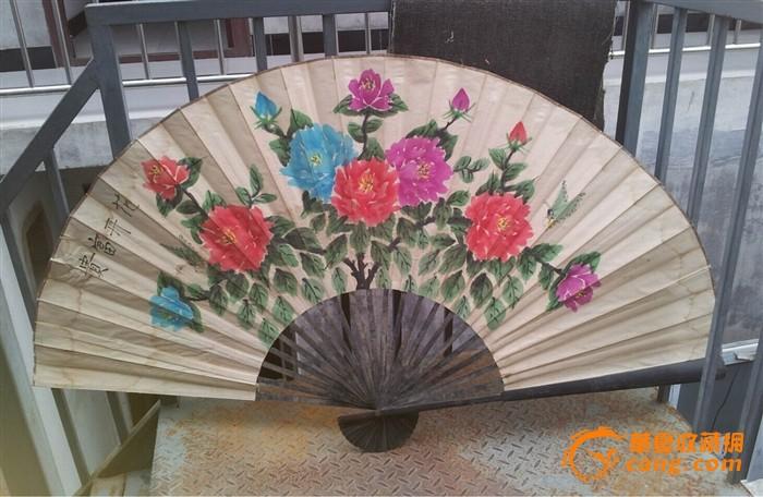 幼儿园中国风梅花扇子制作_幼儿园中国风扇子