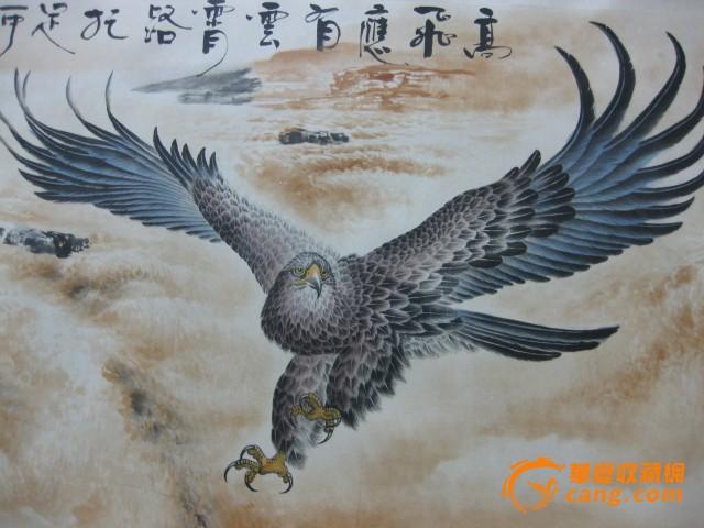 保险雄鹰小组手绘海报